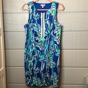 Lily Pulitzer bamboo zip front shift